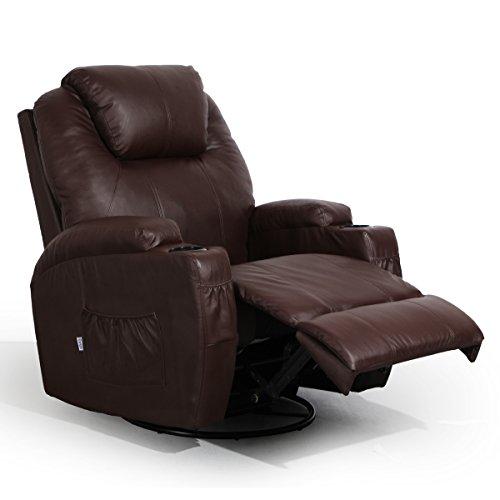 AECOJOY Massage Chair (PU Leather, Brown Massage Chair)