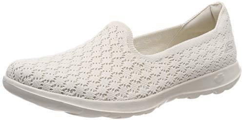natural Nat Para Sin Walk Skechers Zapatillas Go Mujer daisy Lite Cordones Beige wnvpFqP
