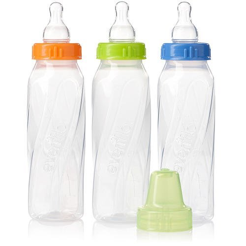 Evenflo Feeding 8 Ounce 3 Pack Classic Plus Vented Bottle -