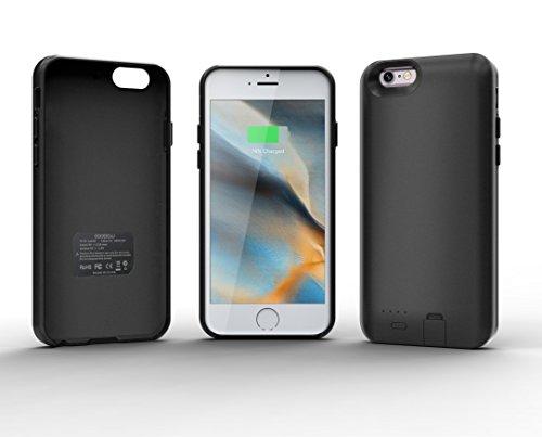 Awinner nuova custodia per iPhone 7 Ultra Slim Extended battery Power case per iPhone 7 (2016) (4.7) batteria extra., Gel, Black, iPhone6