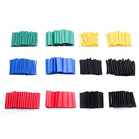 Accessbuy 550 Pack Heat Shrink Tubing 2:1 Electrical Wire Wrap Cable Sleeve Assortment 8 Size (Tubing Assortment)