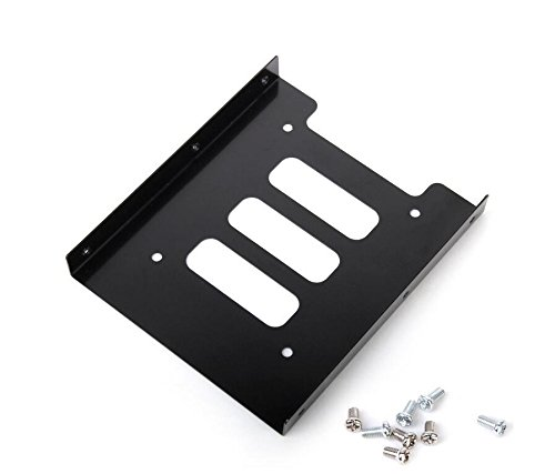 Price comparison product image Aiweasi Ideal Product 2.5 to 3.5 Hard Drive Bay Mounting Adapter Bracket Computer Dock Hard Drive Holder(Black)
