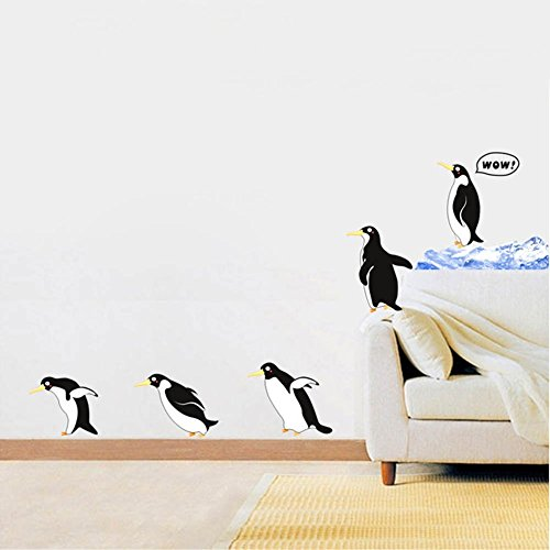 (Wall Stickers Removable Decals Wall Decor Decorative for Children Kids Living Room  (Penguin) )