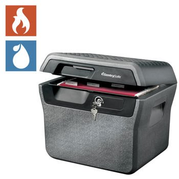 - Sentry®, Safe .65 Cubic Ft. Fire- Safe Waterproof File UL Classified ½-Hour Proven Fire Protection, Privacy Key Lock, ETL Verified Waterproof, In-lid Holder for CD's & DVD's Compare product