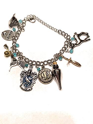 Ivy & Clover HP Inspired Horcrux Hogwarts Crest Charm Bracelet Ravenclaw
