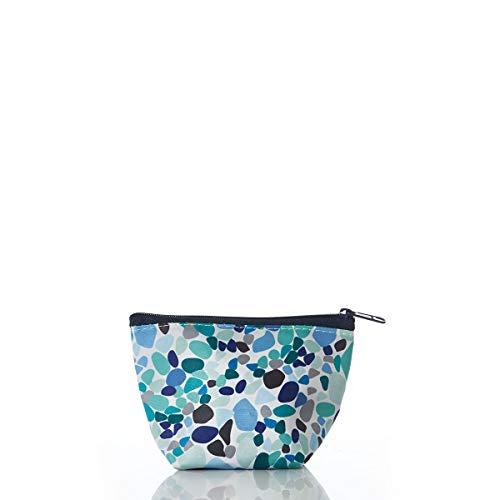 Sea Bags Sea Glass Print Small Cosmetic Bag