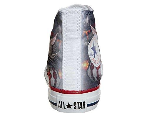 Scarpe Converse All Star personalizzate (scarpe artigianali) Woman Warrior