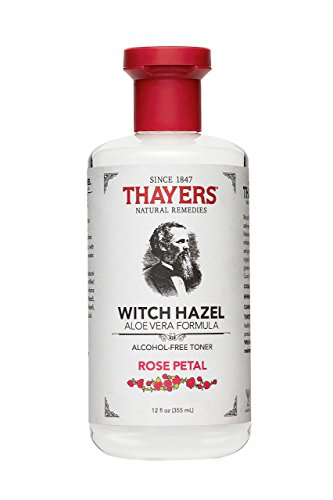 Thayers Alcohol-Free Rose Petal Witch Hazel Toner with Aloe Vera, 12 ounce bottle made in New England