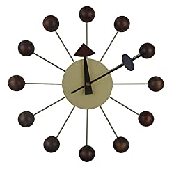 MLF Nelson Clock, Designed by George Nelson(Full Range Available) (Nelson Ball Clock in Walnut)