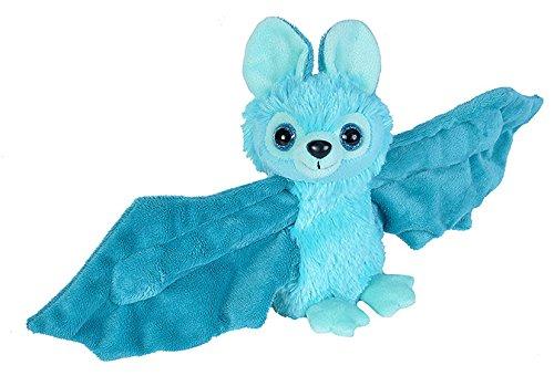 Wild Republic Huggers Blue Bat Plush, Slap Bracelet, Stuffed Animal, Kids Toys, 8 inches ()