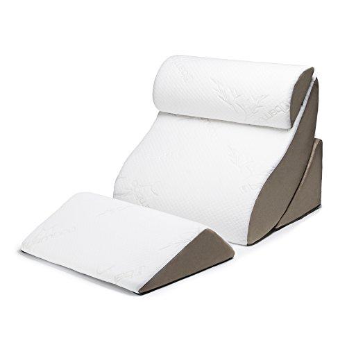 Avana Eco Friendly Tempurature Adjusting Memory Foam 4 Piece Bed Comfort System with Cover, Back Scoop, Cradle, Head Rest, Knee Rest