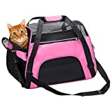 TIYOLAT Pet Carrier Bag, Airline Approved Duffle Bags, Pet Travel Portable Bag Home for Little Dogs, Cats and Puppies, Small