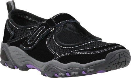 Propet Women's Blazer Mary Jane Slide Sandal,Black/Purple,6 B US