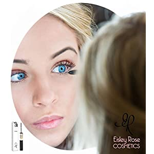 Thickening Mascara Black | Lengthening Dark Formula with Micro Brush for Bottom Lashes | No Smear and Water Resistant by Eisley Rose Cosmetics