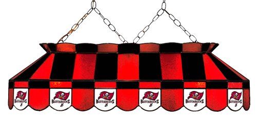 Imperial Officially Licensed NFL Merchandise: Tiffany-Style Stained Glass Billiard/Pool Table Light, Tampa Bay Buccaneers