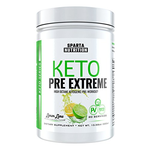 Sparta Nutrition Keto Pre Extreme  Best Ketogenic Pre Workout Powder   Exogenous Ketone Supplement With Bhb Salts  Spectra Orac   Ketosis Drink For Powerful Energy  Focus  Lemon Lime  20 Scoops