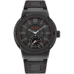 Salvatore Ferragamo Men's 'F-80' Swiss Quartz Stainless Steel and Leather Casual Watch, Color:Black (Model: FAZ020016)