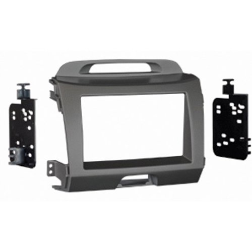 "Metra - '11-Up Kia Sportage Double Din Radio Installation Kit - Gray ""Product Category: Installation Hardware/Trim Kits & Mounts"""