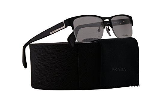Prada PR52RV Eyeglasses 55-17-145 Matte Black w/Demo Clear Lens FAD1O1 VPR52R VPR 52R PR - Prada Lens Clear Eyeglasses