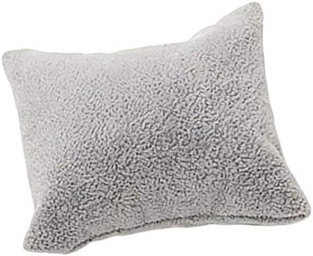 P Prettyia ジュエリーディスプレイ 枕 ベルベット 時計 ブレスレット用 ミニクッション 7x8cm 黒 赤 灰 - グレー