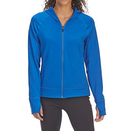 (Eastern Mountain Sports EMS Women's Techwick Transition Full-Zip Hoodie Baleine Blue L)