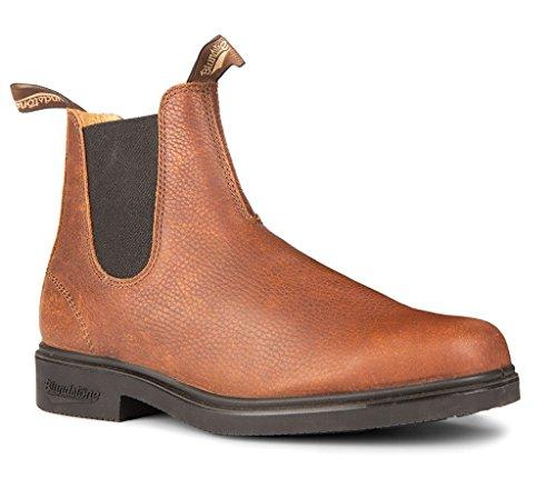 BLUNDSTONE 1313 MEN'S CHISEL TOE DRESS CHELSEA BOOT (AU9 (10 USA MN), 1313-PEPPLE (Blundstone Dress Boot)