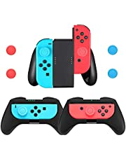 Comfort Grips Compatible with Nintendo Switch Joy-Con Controller (3-Pack), Game Controller Handle Case Kit for Nintendo Switch