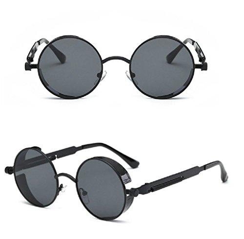 Gafas Mujer Unisex Negro sol Redondo Hombre Retro de Cybe raFIOqwr