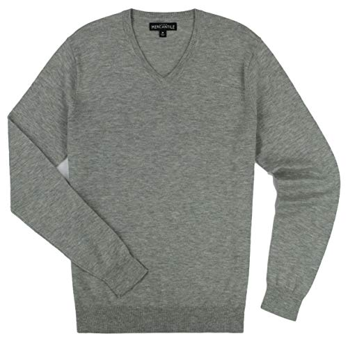 J. Crew - Men's - Merino Blend V-Neck Sweater (Multiple Color/Size Options) (Large, Heather Grey)