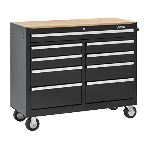 MBI MWC46-9BK 9-Drawer Mobile Workcenter ()