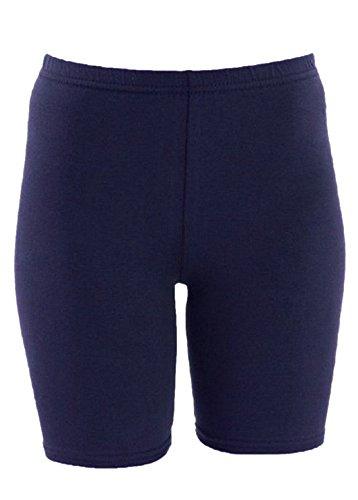 Casa de Moda Algodón Rodilla Longitud activa desgaste ciclismo gimnasio pantalones cortos–varios colores azul marino