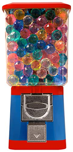 (Gumball Bouncy Capsule Vending Machine $0.25 - Capsule Bouncy Ball Gumball Vending Dispenser Machine - Blue Body & Red Trim)