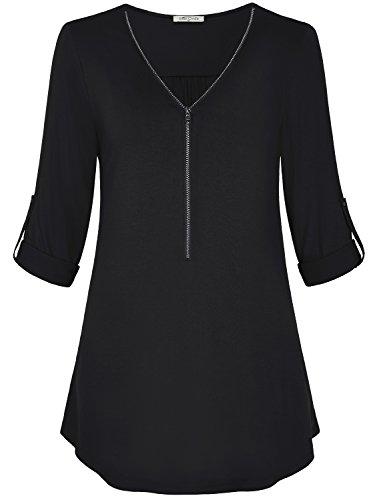 Ladies 3/4 Sleeve V-neck Tee - 3