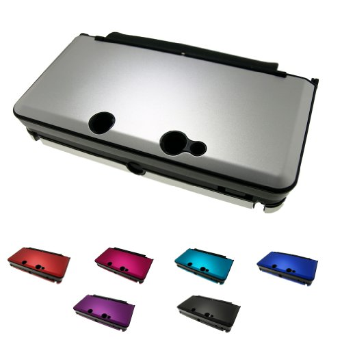 """For Nintendo 3DS / 3DS XL Aluminum Metal Crystal Case Skin Protector Cover + Free Screen Protectors (2 Sizes Not for """"New"""" Version)"""