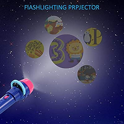 Baby Mini Story Machine Children Early Education Projector Toy Light HD Cartoon Small Flashlight Learning Machine Children's Projection Toy: Kitchen & Dining
