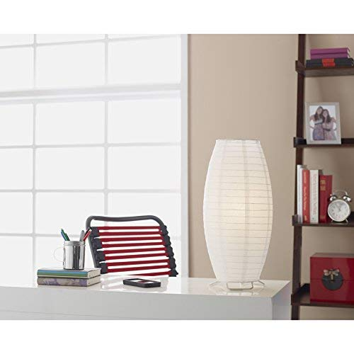 Style Selections Erskin 17.7-in White Desk Lamp with Rice Paper Shade ()