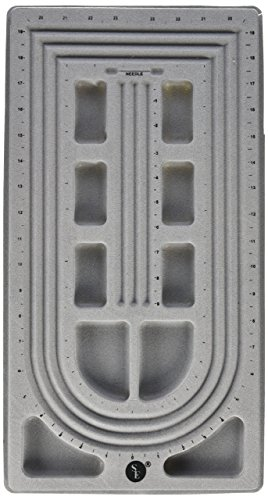 SE BT14 Tray - Bead, for 3 Strand, Flocked, Grey Color, 18.5 in.