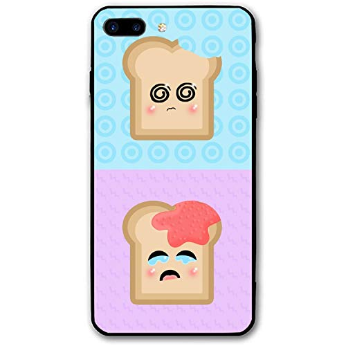 iPhone 8 Plus Case for Girls, Humor Funny Bread Slim-Fit Shock Proof Anti-Finger Print Gel Case for iPhone 8 Plus]()