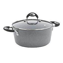Bialetti Granito Nonstick Dutch Oven, 5-Quart, Gray