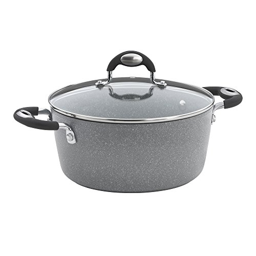 Bialetti Granito Nonstick Dutch Oven, 5-Quart, Gray