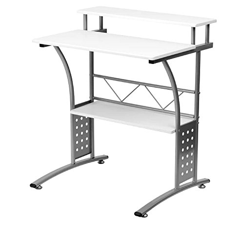 Amazon.com: Narrow Computer Desk Raised Desktop Student ...