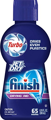 Finish Jet-Dry Turbo Dishwasher Drying Aid, 65 washes, 6.76 oz (Pack of 2), Dries Even Plastics