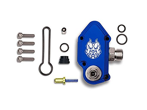 Sinister Diesel Blue Spring Kit with Adjustable Billet Spring Housing - Fuel Regulator Kit - Ford Blue Spring Kit 6.0 Powerstroke – Fast Install For 2003-2007 Ford Powerstroke 6.0L (Fuel Adj Pressure Regulator)