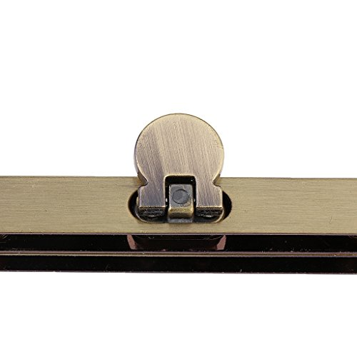 Sharplace Taschenrahmen Taschenbügel Verschluss Metallrahmen - Zinn Bronze