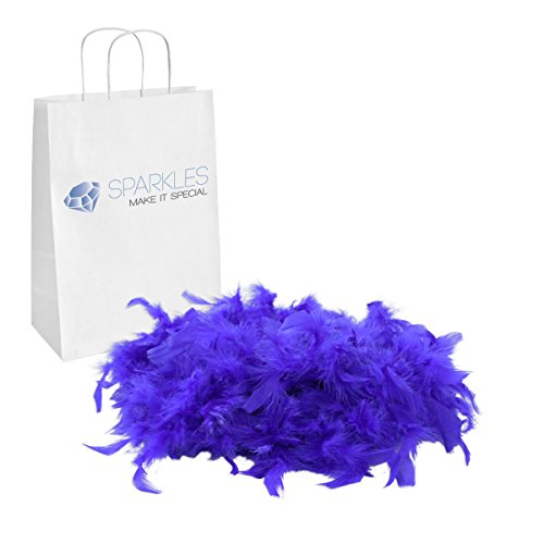 Sparkles Make It Special Feather Boa - 2 Yards (6 Foot) Kids Birthday Bachelorette Mardi Gras Party Wedding Halloween Dress Up Costume Accessory - 13 Colors - Royal -