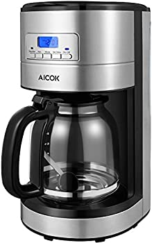 Aicok Drip 12 Cup Programmable Coffee Maker with Coffee Pot