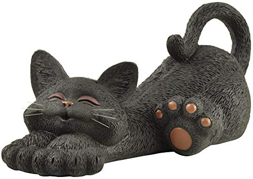 Whimsical Black Cat Lounging Figurine Cute Collectible - Happy Cat Collection - Cat Lover Gifts for Women, Cat Lover Gifts for Men, Cute Cat Gifts,