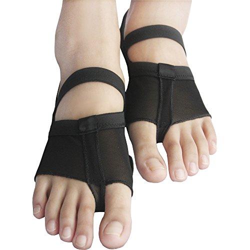 Yaling Commerce International Limitée Isyitlty Femmes Ballet Danse Du Ventre Lyrique Semelle Pattes Pad Pad Pied String Patte Chaussures 8 Styles Fblack