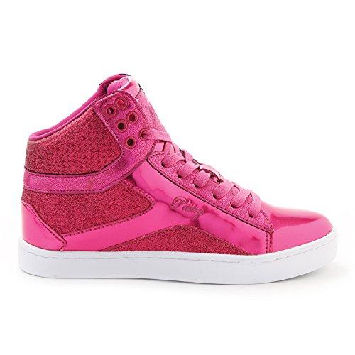 Pastry Adult Pop Tart Glitter Dance Sneaker, Fuchsia, Size 9