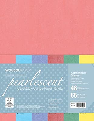 Neenah Creative Collection Specialty Cardstock, 8.5 X 11 Inches, Glistens Assortment, 48 Count (45124)